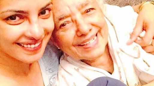 The actress Priyanka Chopra with her granny Mary John Akhouri