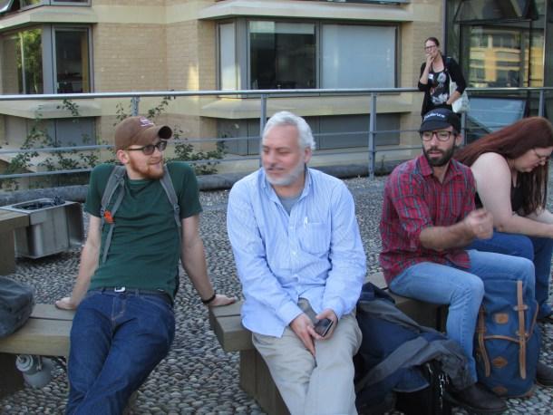 Erik Hanschen (left) with Cristian Solari, David Smith, and Jillian Walker