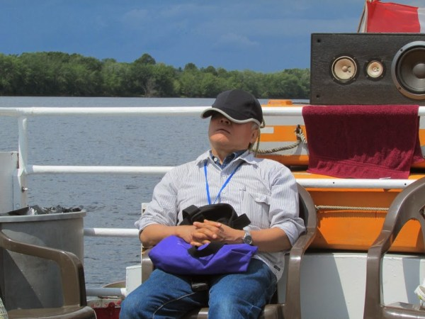 Dr. Hisayoshi Nozaki catching a quick nap during the Second International Volvox Meeting in New Brunswick.