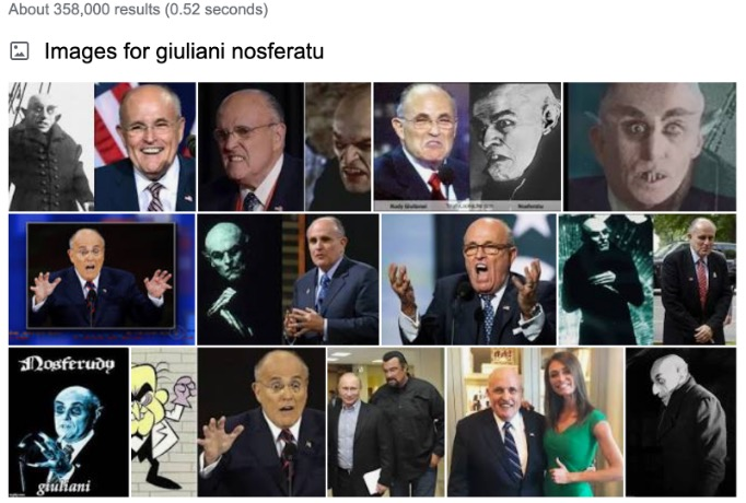 "composite image result for google search of ""giuliani nosferatu"""