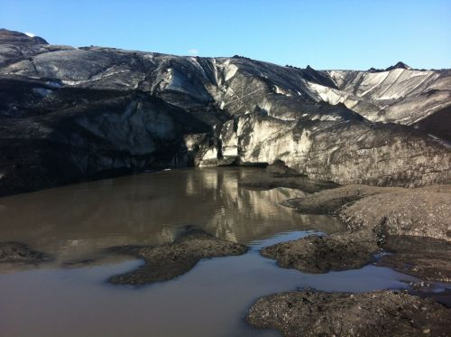At the foot of a very dirty glacier