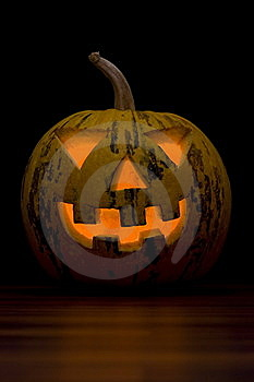Stock Photo - Halloween Pumpkin Face