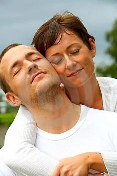 Stock Photos - A young couple enjoying the spring sun.