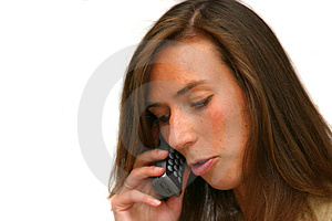 Stock Photography: Attractive Brunette On The Phone Picture. Image: 177122