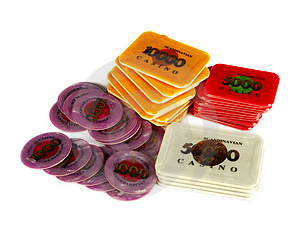 Stock Image - Casino Plaques. Big ones!