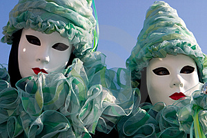 Green Sisters Stock Photo