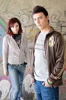 Stock Photo - Underground couple