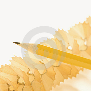 Stock Image - Pencil and shavings