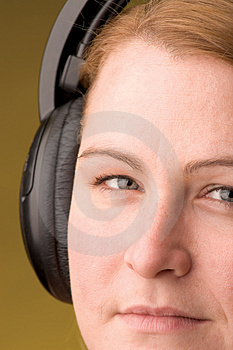Stock Photos - Women with headphone