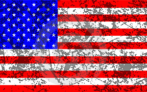 Grunge Stars And Stripes Free Stock Photography