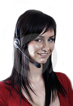Free Stock Photography - Customer service agent