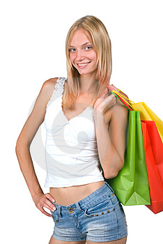 Stock Photos - Shopping Woman