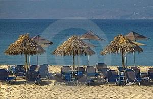 Free Stock Image - Umbrellas on exotic beach