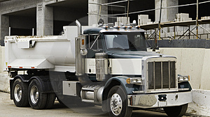 Stock Images - Truck at Construction Site