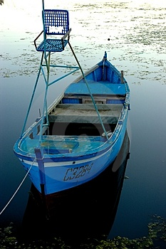 Free Stock Image - Deer-stand fishing boat