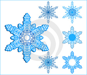 Free Stock Photo - Vector snowflakes