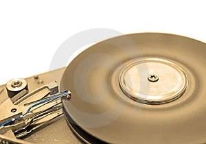 Hard Disk Drive In Sepia Stock Photo