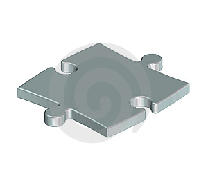 Stock Image - Metallic puzzle