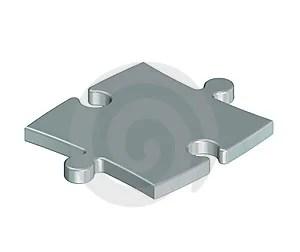 Stock Image - Metallic puzzle