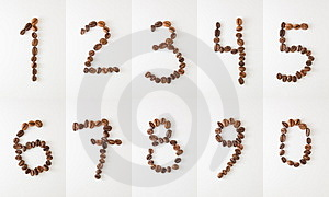 Stock Image - Coffee numbers