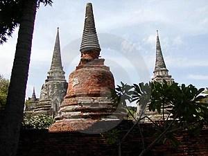 Stock Photo - Three Thai Temples