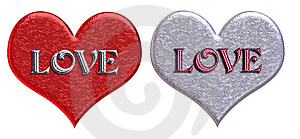Free Stock Images: Matching 'LOVE' Hearts Picture. Image: 59349