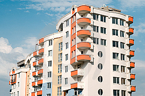 Stock Image - New residential building