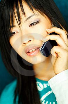 Stock Images - Girl talking cell