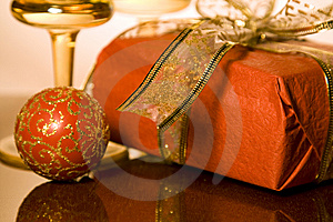 Christmas Gifts And Decoration Stock Photos
