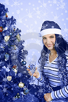 Free Stock Photo - Christmas blue
