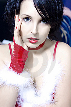 Stock Photos - Beauty in red