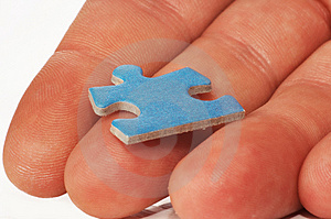 Stock Photo - Puzzle in hand