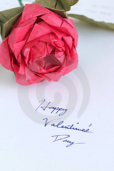 Free Stock Photo - Origami rose by handwriting