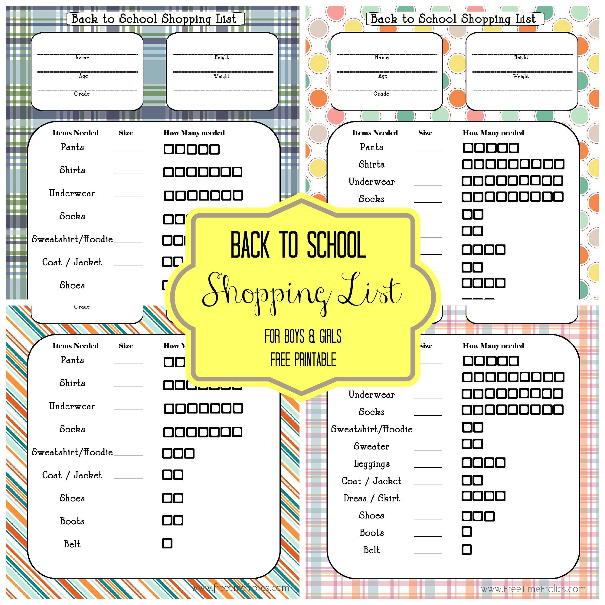 Back To School Blast Shopping List Free Printable Giveaway