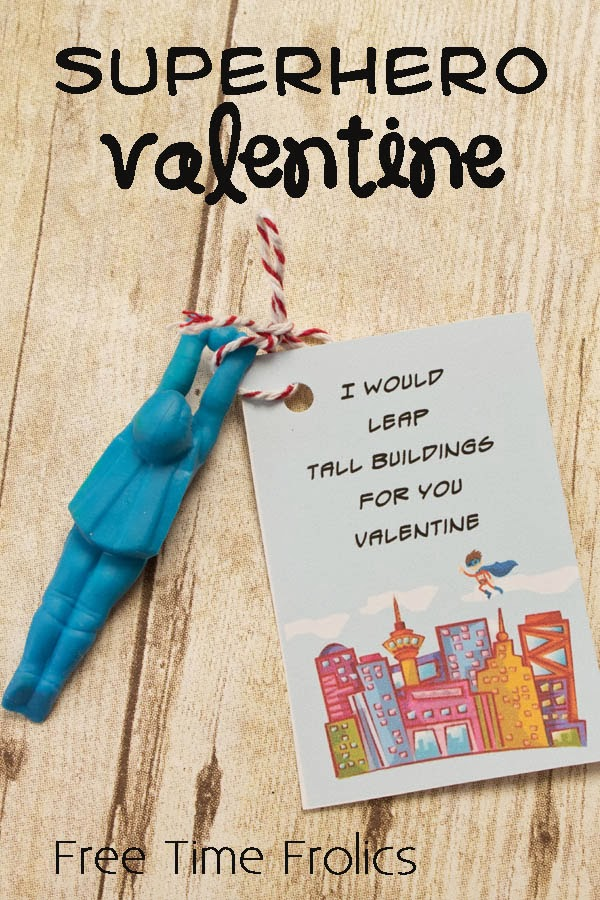 Superhero Valentine Classroom Valentine Free Time Frolics
