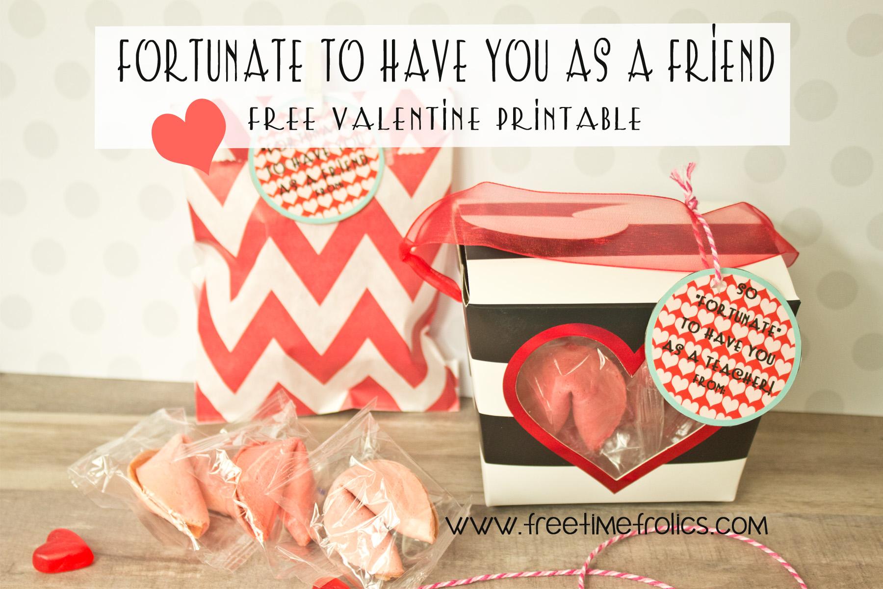 Fortune Cookie Classroom Valentine Free Printable