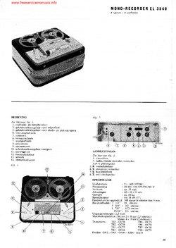 Philips EL3549 Tape Recorder