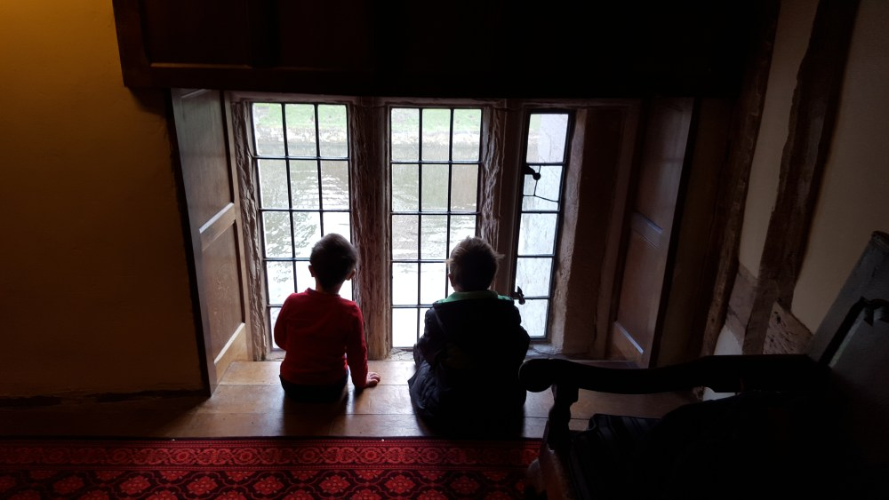 Looking out over the moat at Baddesley Clinton