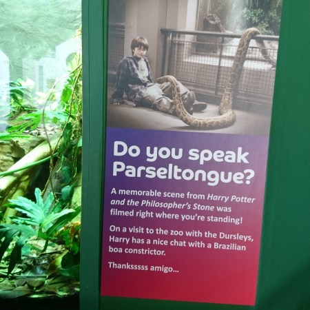 The Harry Potter poster at ZSL London Zoo