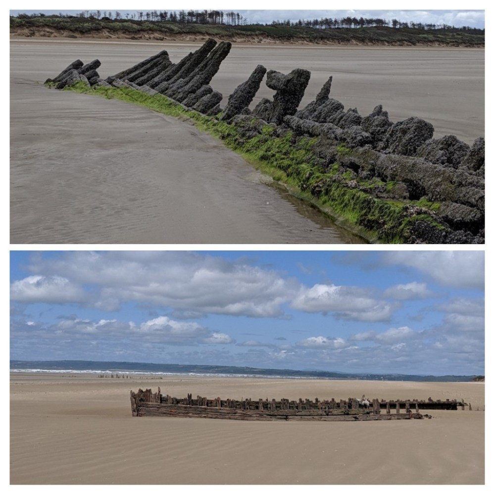 The three shipwrecks we discovered at Pembrey Country Park