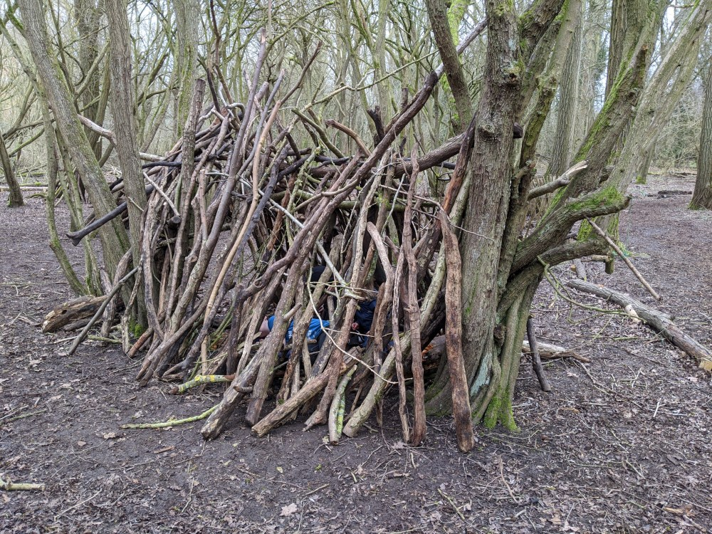 Woodland Den | Cambridgeshire | Free Time with the Kids
