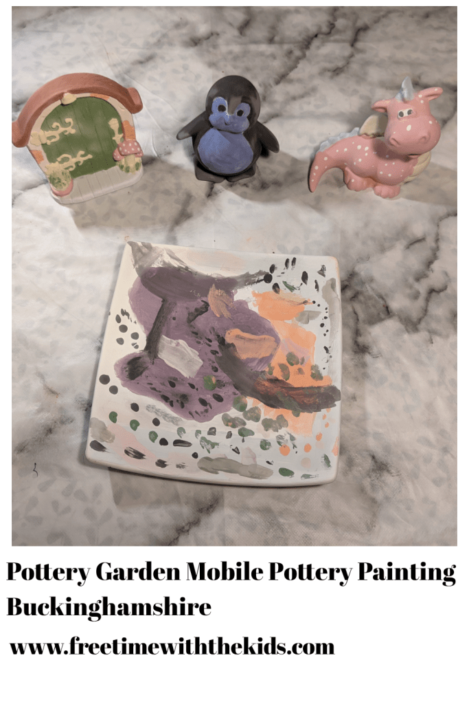 Pottery Garden Mobile Pottery Painting review | Chalfont st. Giles | Buckinghamshire | Family craft activities | Free Time with the Kids