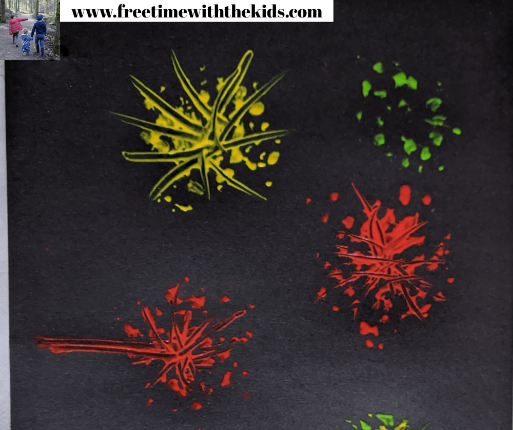 Fireworks paintings Autumn craft ideas to do with the children | Free Time with the kids
