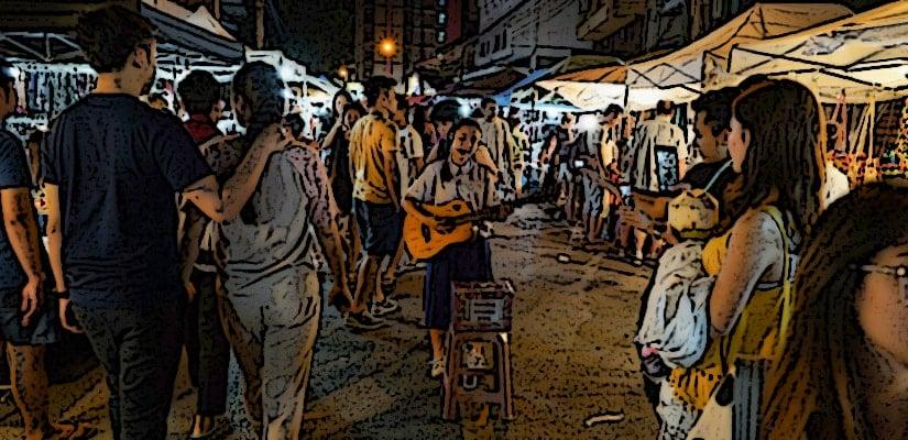 market crowd sound effects