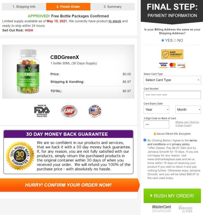 Green X CBD Gummies Price