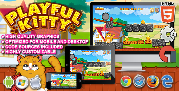 Playful Kitty – HTML5 Construct 2 Game | FreeTrialMe com