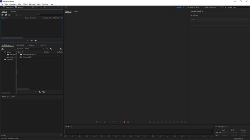 Adobe Audition Audio Editing Screenshot