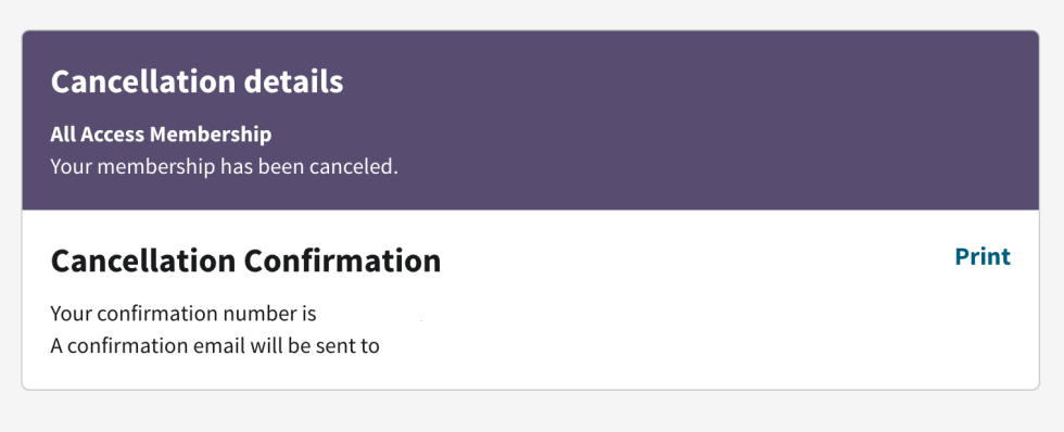 Ancestry.com Cancellation Confirmation