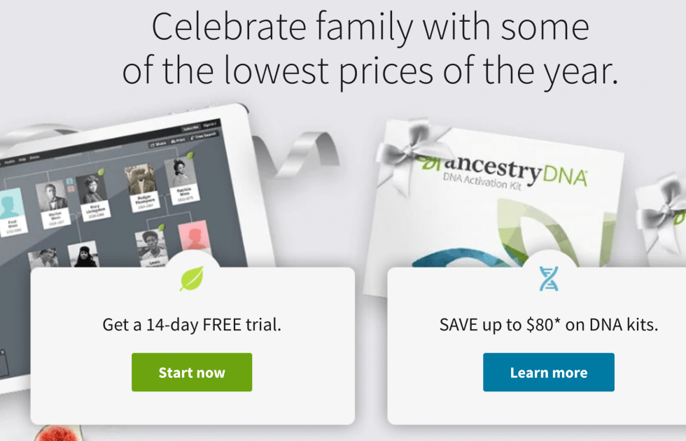 Ancestry.com Free Trial Landing Page