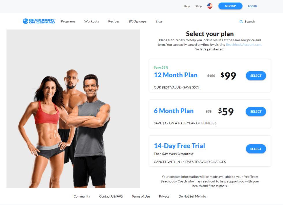 BeachBody On Demand Plans